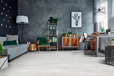 sala com piso vinilico branco