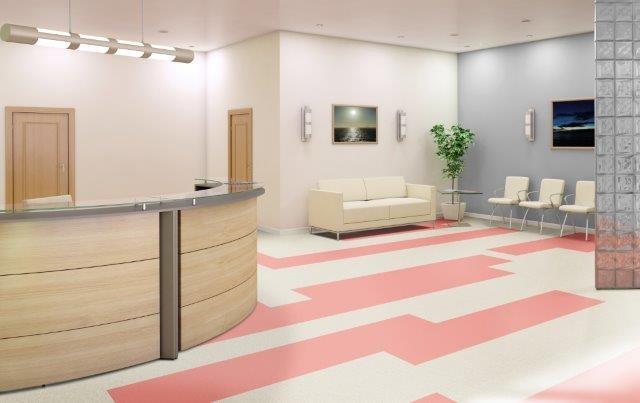piso vinilico rosa e branco