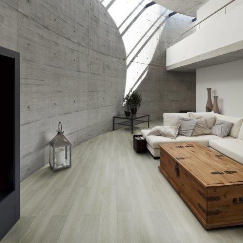 piso vinilico branco em sala branca