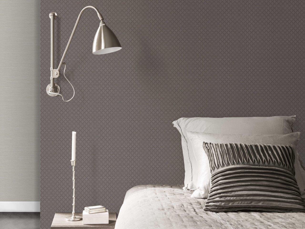 cama e piso vinilico de parede