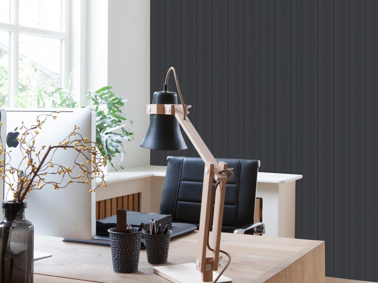 piso vinilico de parede preto