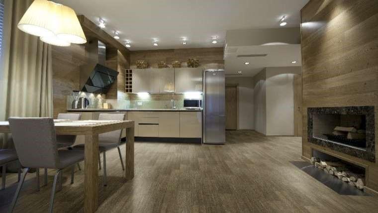 sala com piso vinilico
