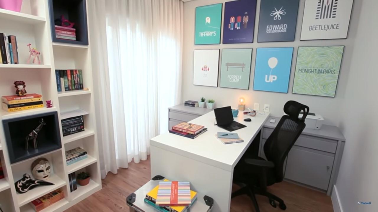 dicas-decorar-home-office-bancada-de-trabalho-vinílico-amadeirado
